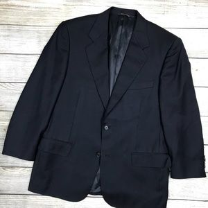 CANALI classic navy blue blazer men's jacket 38S